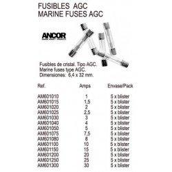 FUSIBLES AGC 2 AMP.