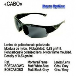 GAFAS DE SOL CABO MATT BLANCO/AZUL GRIS