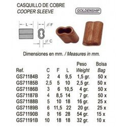 CASQUILLO BRONCE P/CABLE 4...