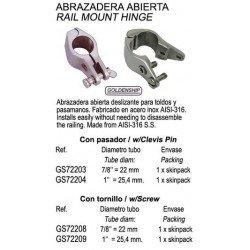 "ABRAZADERA ABIERTA INOX 1""..."